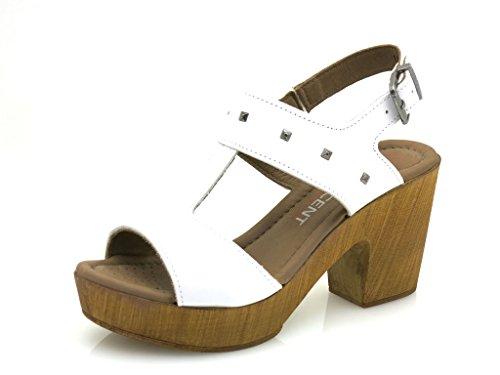Innocent High Heel Sandal Leather Shoes Ladies 114-ss05 Branco k2Vhzhi