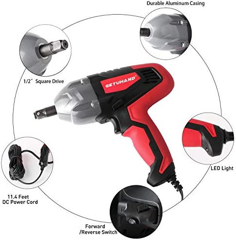 Beennex 1 inch Pneumatic Socket Air Impact Wrench Socket Square Hex 80mm Length