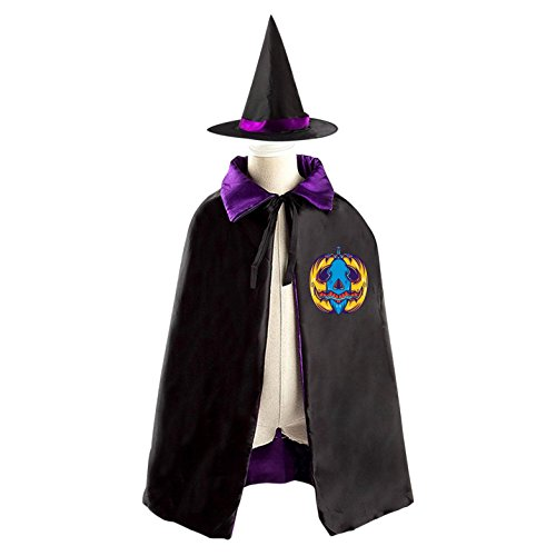SeSHU Weird Pumpkin Custom Reversible Halloween Party Outfits Cape With Cap for Kids - Weird Halloween Costumes Homemade