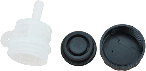 Goofit Plastik Universal Hinter Bremsflüssigkeitsbehälter Öl Tasse Flasche Für Yamaha Yzf R6 1999 2009 Auto
