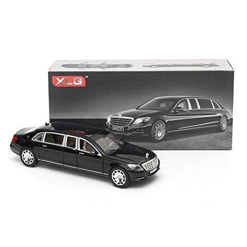 VIDOO 01:24 S600 Limousine Modellino In Metallo Auto Modello 20.5 X 7.5 X 5 Cm In Scatola Nera