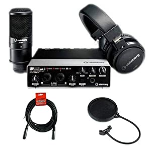 Steinberg UR22 MKII RP Recording Pack with UR22mkII Audio Interface, ST-H01 Monitor Headphones, ST-M01 Condenser…