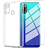 Ytaland for Ulefone Note 9P Case,with Tempered Glass Screen Protector. (2 in 1) Crystal Clear Soft Silicone Shockproof TPU Tr