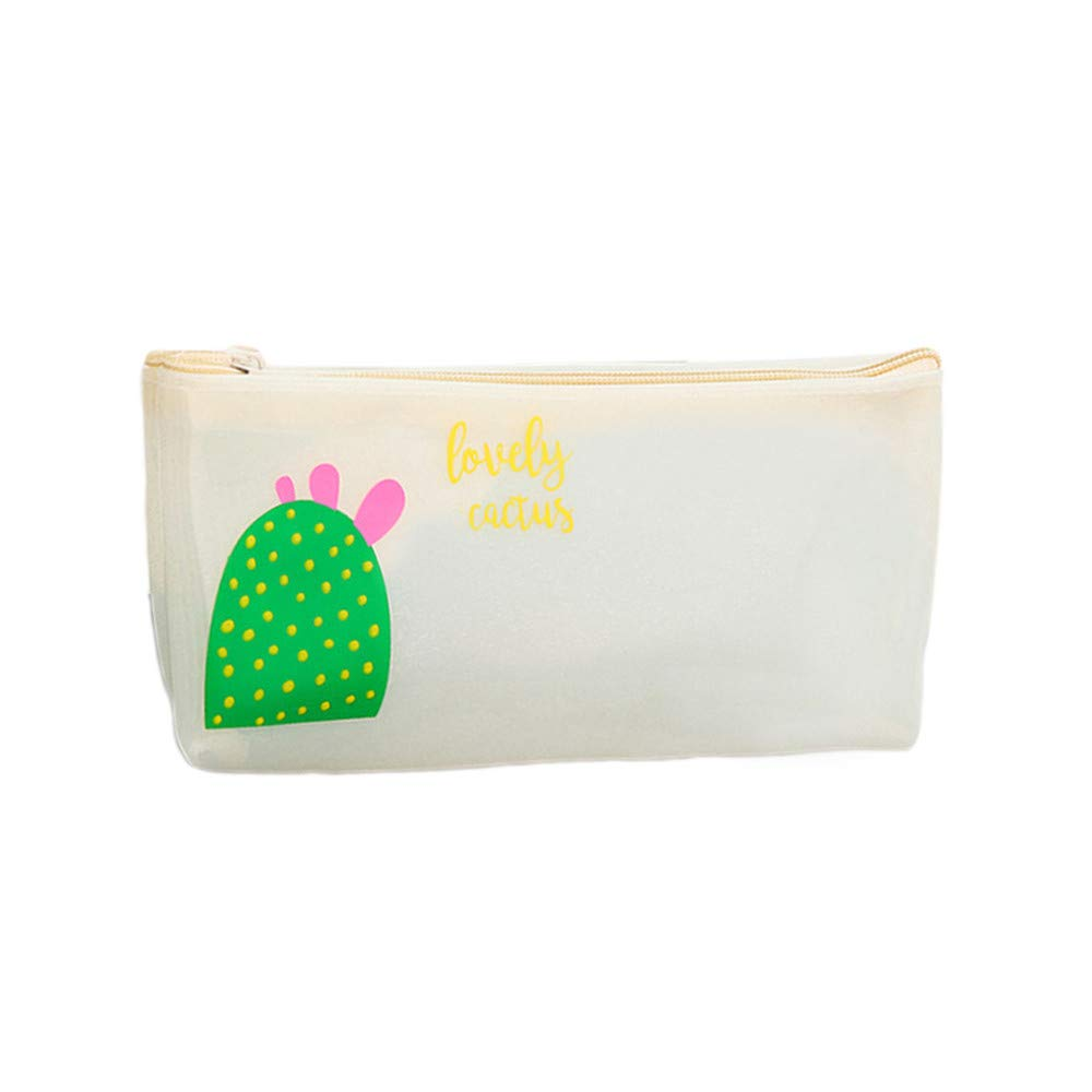 Cute Flowers PVC Plastic Pencil Cases Cosmetics Make Up Bags by Ikevan (A)