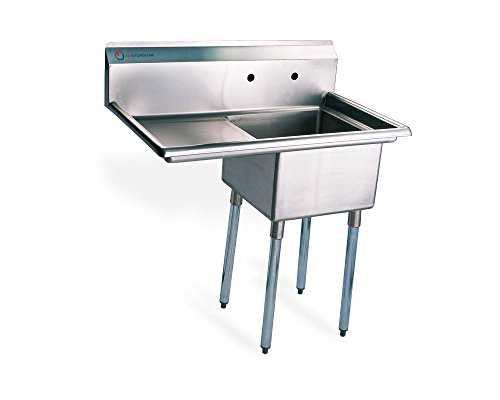 Stainless Steel Utility Sink - EQ 1 Compartment Commercial Kitchen Sink Stainless Steel