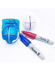 JKL Golf Ball Marker Alignment Tool-Golf Accessories for Golf Ball Marker Line Liner Drawing Stencil Kit and Golf Ball Marker Pen, Golf Training Straight Shot Putt Tool Gift Set for Kid Men and Women