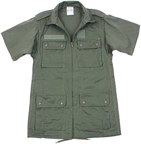 実物 新品 フランス軍 エアフォース半袖ジャケットオリーブ/ミリタリー 放出品 ジャケット
