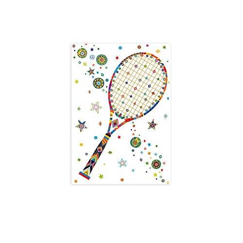 /Carte postale avec motif tennis arguval 39711/
