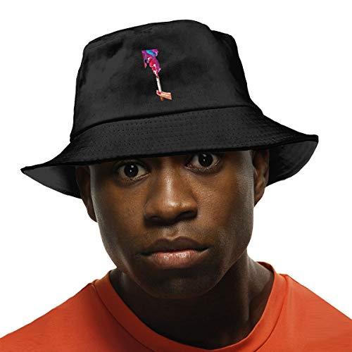 YJMHstore Unisex Fisherman UV Protection Outdoor Hiking Fishing Bucket Hat Black One ()