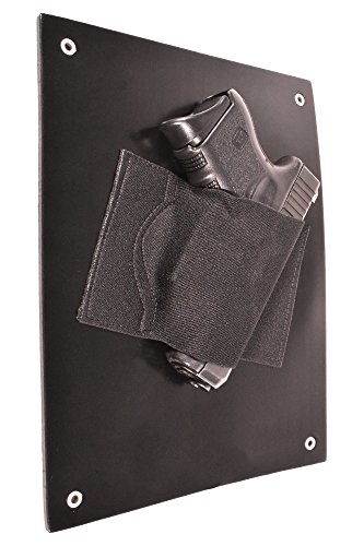 Bluestone Safety Under The Desk Holster| Bedside Holster| Wall Mounted Tactical Gun Holster| Under The Desk Pistol Gun Holder| Fits Nearly Any Handgun