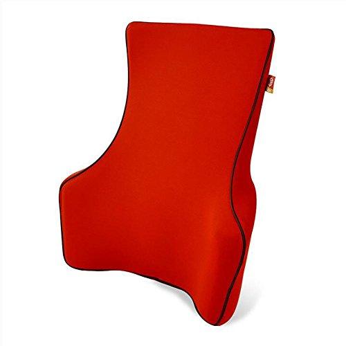 MIAO Car Lumbar - Memory Cotton Lumbar Cushion, Pregnant Women Lumbar Pillow, Office Chair Back Waist Cushion , red by miaomiao