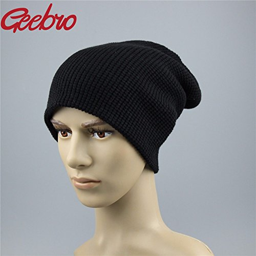 Men'S For Hats Knitted Dark Black Winter 4 Gray Beanie Color Js270A Warm Spring Skully Hat Men Negro Dad QETUOAD Brand zIYwq5