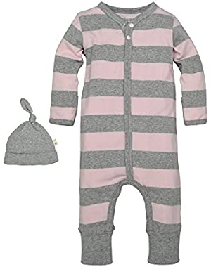 Baby Organic Convertible Foot Coverall and Hat