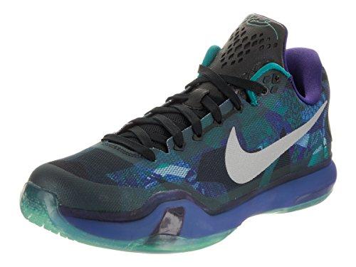 timeless design 3d5b7 cbd4a Galleon - Nike Men s Kobe X Emrld Glow Rflct Slvr Crt Prpl Basketball Shoe  13 Men US