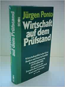 (German Edition): Jurgen Ponto: 9783430175968: Amazon.com: Books