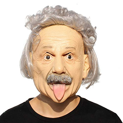 PartyHop - Albert Einstein Mask - Halloween Realistic Famous People Celebrity Human Mask ()