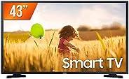 "Smart TV LED 43"" Full HD Samsung LH43BETMLGGXZD, 2 HDMI, 1 USB, Wi-Fi, HDR, Sistema Operacional Tizen e D"