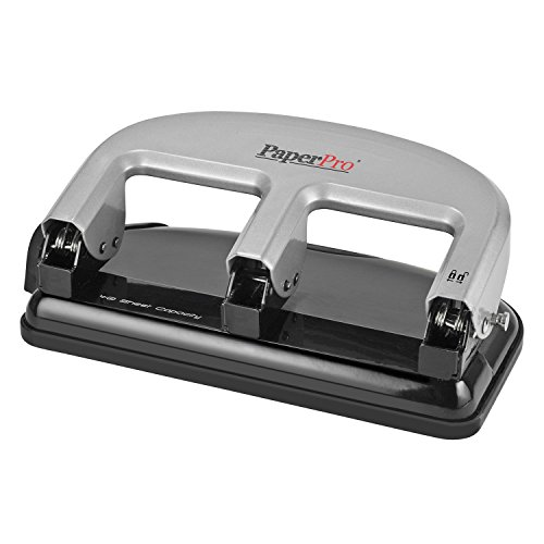 PaperPro inPRESS 40 Reduced Effort 3-Hole Punch, 40 Sheets, Silver (2240)