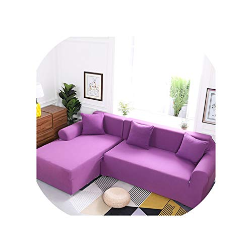 Fashion nan Solid Color Sofa Covers for Living Room It Need Buy 2pcs Sofa Cover for L Shape Sectional Corner Sofa Slipcover Couch Cover Set,Color 9,45-45cm Pillowcase-2 (Market Outdoor Sectional World)