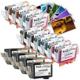 LD Canon Compatible PGI5/CLI8 14 Pack: 4 Pigment BK (PGI5BK), 2 Black (CLI8BK), 2 Cyan (CLI8C), 2 Magenta (CLI8M), 2 Yellow (CLI8Y), 1 Photo Cyan (CLI8PC), 1 Photo Magenta (CLI8PM), & FREE Photo Paper