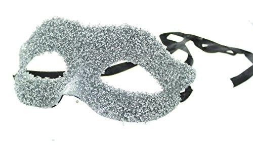 Adults Ladies Sequin Masquerade Eyemask Halloween Fancy Dress (Silver Sequin Eyemask)