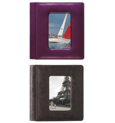 Raika SC 168 WINE 4 x 6 in. Foldout Framed-Front Photo Album - Wine by Raika