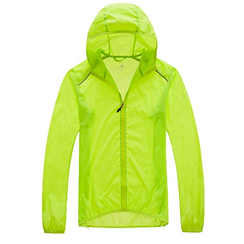 (StartDawn Men Cycling Jersey Run Lightweight Rain Quick Dry Packable Outdoor Jacket Breathable Waterproof Sports Windbreaker Skin Coat(Medium)