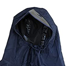 Bike Bicycle Waterproof Raincoat Cycling Poncho Cape - Navy Blue