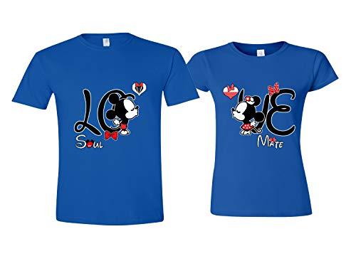 LO & VE Matching Shirts Couples - Disney Couple Shirts Him Her Royal Men L