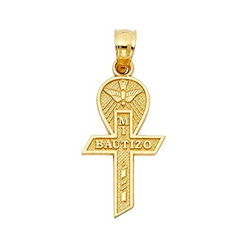 More 14k Yellow Gold Religious Cross Pendant