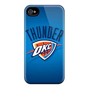 Scratch Resistant Cell-phone Hard Cover For Iphone 4/4s (ahx2817QJxm) Custom High-definition Oklahoma City Thunder Image