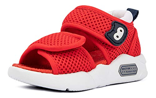 Infant Baby Girls Boys Sandals 6 9 12 18 24 Months Toddler Summer Water Beach Shoes Non-Slip Size 3 4 5 6 7 Red