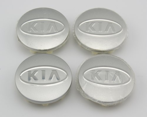 Angel Mall KIA 58mm Outer Diameter Grey Wheel Center Hub Caps Cover 4-pc - Stores Rio Mall