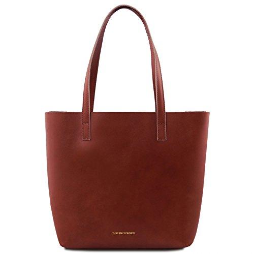 Tuscany Leather Ilaria Bolso en piel con compartimento extraible Marrón Marrón