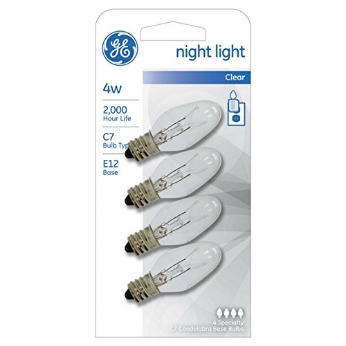 GE Lighting 700064841068 4-Watt Night Light Bulbs (Pack of 12)