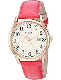 Womens TW2R62500 Easy Reader 38mm Pink/Rose Gold-Tone Leather Strap Watch