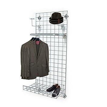 Montado en la pared Rejilla Panel expositor con 2 x sombrero ...