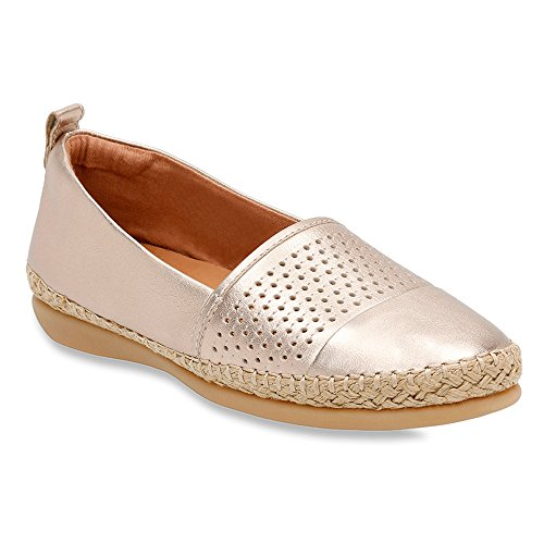 Clarks Mujer's Reeney Helen Gold Leather