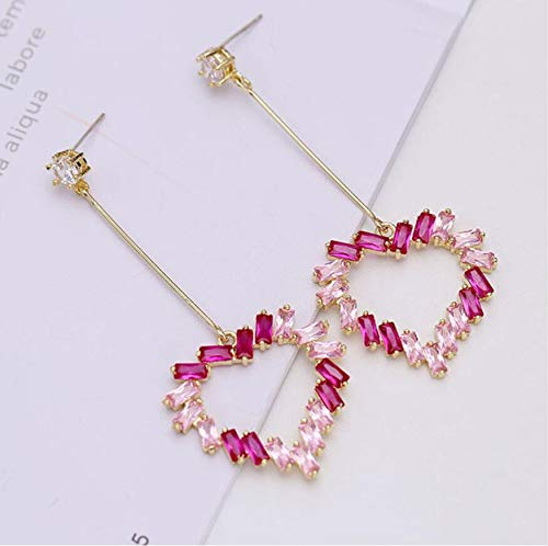 Fashion Ear Stud Crystals Zircon Dangle Hook Zircon Earrings 925 Silver Jewelry
