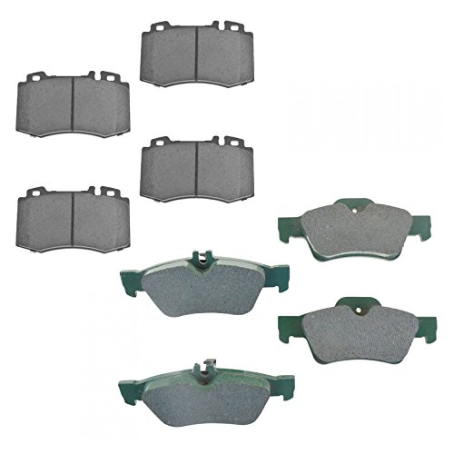 Premium Posi Ceramic Brake Pad Set Kit Front & Rear for Mercedes Benz