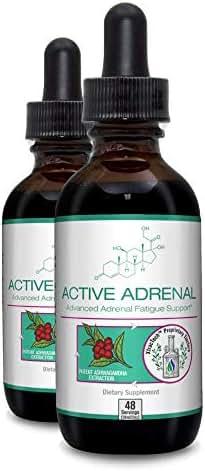 Active Adrenal - Advanced Adrenal Fatigue Supplement - All Natural Liquid Formula for 2X Absorption - Ashwagandha, B-Vitamins Magnesium and More