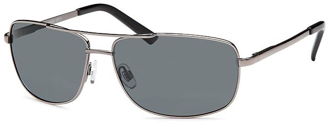 Polarisierte sportlich- elegante Edelstahl-Sonnenbrille mit Federscharnier im Set mit Zubehör K1CKknR8