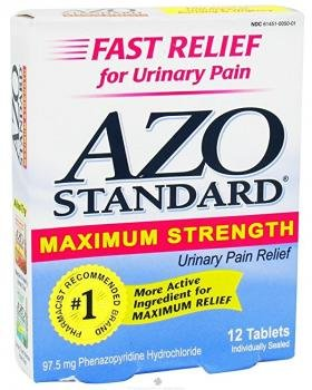 Ingredients Standard Azo - Azo Max Blistered Tablets, 12 tab