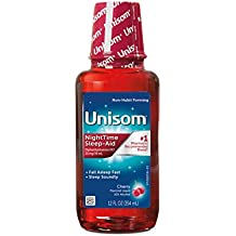 Unisom Liquid, Cherry, 12 Ounce