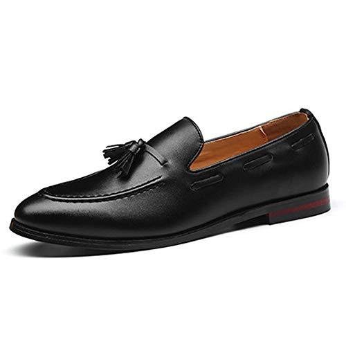 Para Negro Zapatos Hombres Moda Negocios Mocasines Borla Los Conducción De Rzw0dq