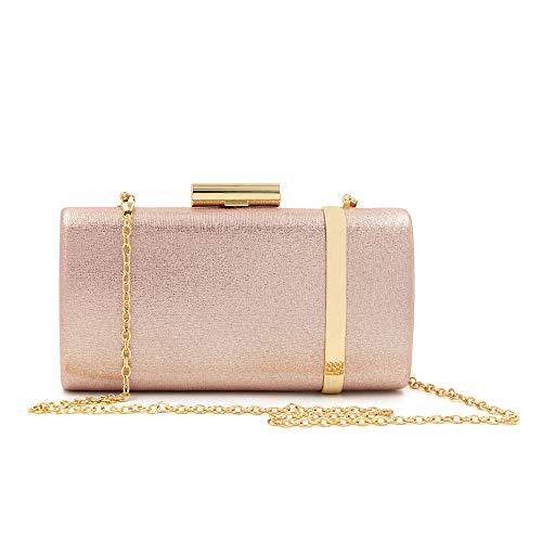 Serale Raffinato Grazioso Shiny Texture Elegante FFLLAS È Brown Di Sera Ferro Semplice Lussuoso Pink Confezione Attraente La Box Pacchetto SqZ0q