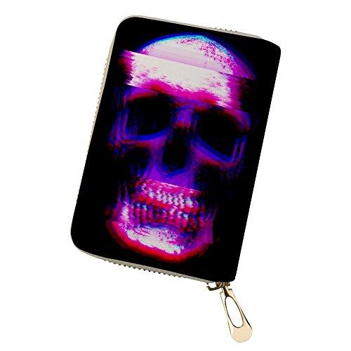 Coole Schädel Kreditkartenhüllen Leder für Frauen Männer Visitenkarten-Etuis Schädel 27 sjZMfug8v