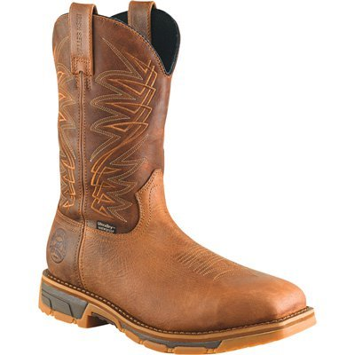 "Irish Setter Work Men's 83912 Marshall 11"" Pull-On Steel Toe Waterproof Work Boot,Brown,10.5 EE US"