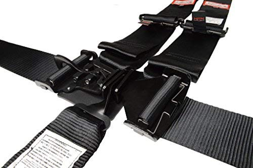 Racerdirect.net Racing Harness 3'' V Roll Bar Mount 5 Point Latch & Link Safety Race Harness Black by Racerdirect.net (Image #1)
