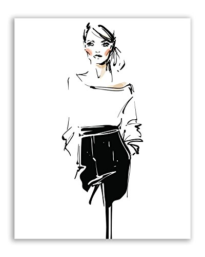 Crystal Minimalist Fashionista Prints - Set of Six Vogue Fashion Couture Wall Art Decor Photos 8x10